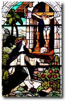 Saint Rose Stain Glass Window